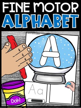 Alphabet Mat Snow globe Theme | Alphabet Playdoh Stampers | Winter Theme