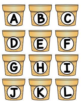 Alphabet Match Activity (Ice Cream Theme)