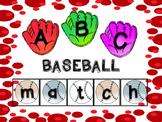 Alphabet Match Center - Baseball Theme