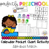 Alphabet Match Calendar Pocket Chart Activity