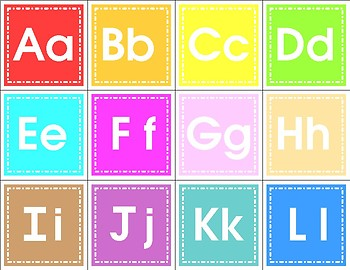 Alphabet Match Cards - Activity Set for  Learning Centers