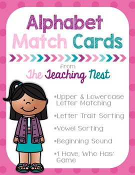 Alphabet Match Cards for Games or Centers!