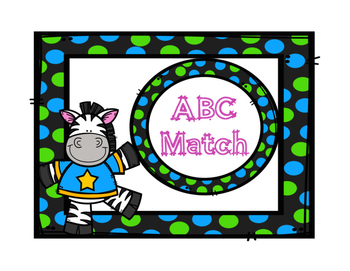 Alphabet Match Center Zebra Theme