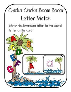 Alphabet Match Chicka Chicka Boom Boom themed