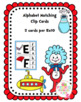 Alphabet Match Clip Cards