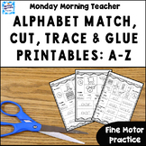 Distance Learning Alphabet Match Cut Trace and Glue Printa