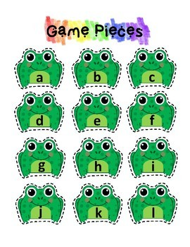Alphabet Match - File Folder Game - Frog and Lily Pad