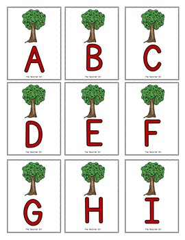 Special Education- Kindergarten-Alphabet Recognition &  Match Game-Apples