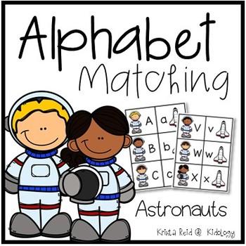 Alphabet Match Game - Astronauts