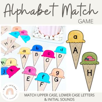 Alphabet Match Game (Ice-cream cone)
