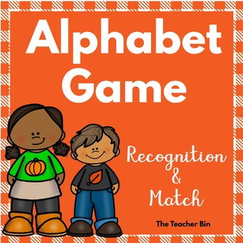 Special Education-Kindergarten-Alphabet Match & Alphabet Recognition Game Autumn