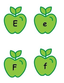 Alphabet Match Game - with apples