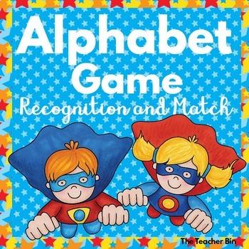 Special Education- Kindergarten- Alphabet Bundle- Recognition & Match Games
