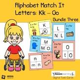 Alphabet Match It: Bundle 3 Letters K-O BOOM cards Digital