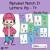 Alphabet Match It: Bundle 4 Letters P-t BOOM Cards Digital
