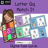 Alphabet Match It - Letter Qq BOOM cards Digital & Printable
