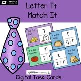 Alphabet Match It - Letter Tt BOOM Cards Digital and Printable