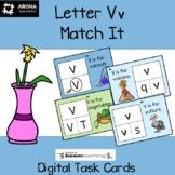 Alphabet Match It - Letter Vv BOOM Cards Digital and Print