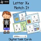 Alphabet Match It - Letter Xx BOOM Cards Digital and Print