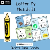 Alphabet Match It - Letter Yy BOOM Cards Digital and Print