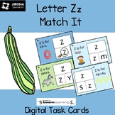 Alphabet Match It - Letter Zz BOOM Cards Digital and Print