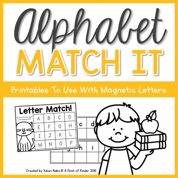 Alphabet Match It: Printables To Use With Magnetic Letters