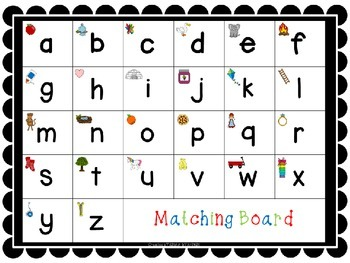 Alphabet Match - Kinder by Kristin