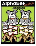 Alphabet Match (doggies) Literacy Center