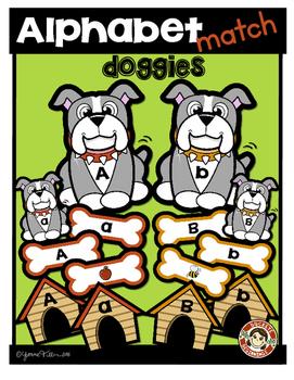 Alphabet Match (doggies) Literacy Center