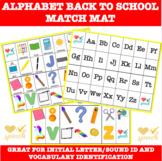 Alphabet Match Mat Back to School Activity