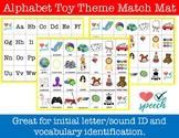 Alphabet Match Mat Toy Theme Activity
