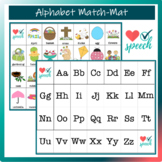 Alphabet Match Mat Easter Theme Activity
