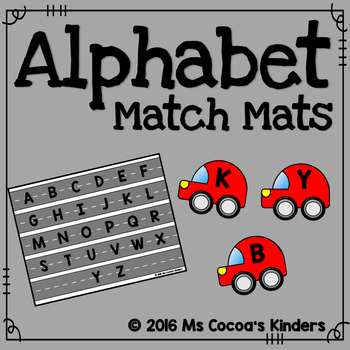 Alphabet Match Mats - Cars
