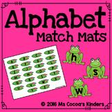 Alphabet Match Mats - Frogs