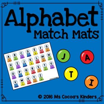 Alphabet Match Mats - Gum Ball