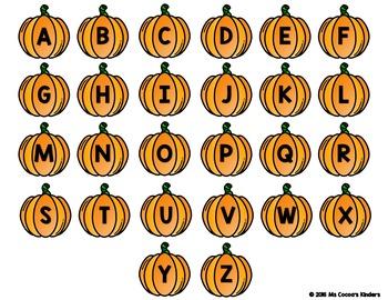 Alphabet Match Mats - Halloween Pumpkins