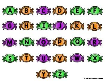 Alphabet Match Mats - Halloween Candy