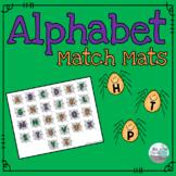 Alphabet Match Mats - Halloween Spiders