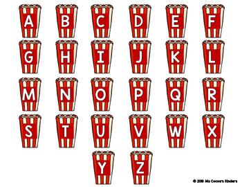 Alphabet Match Mats - Popcorn