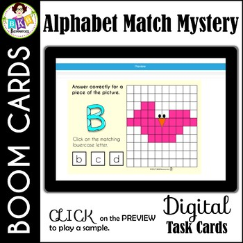 Alphabet Match Mystery Picture ● Digital Task Cards ● Boom Cards