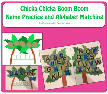 Chicka Chicka Boom Boom: Name Practice & Alphabet Letter Matching