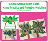 Name Practice & Alphabet Matching to use with Chicka Chicka Boom Boom
