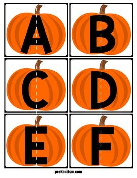 Alphabet Match | Pumpkins