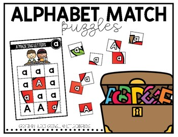 Alphabet Match Puzzles