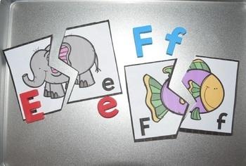 Alphabet Match Puzzles {Alphabet Beginning Sounds Center}