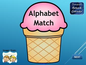 Alphabet Match SMART Board Lesson
