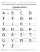 Alphabet Match (Take It to Your Seat Centers)