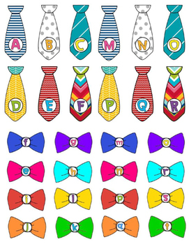 Alphabet Match - Ties & Bow Ties