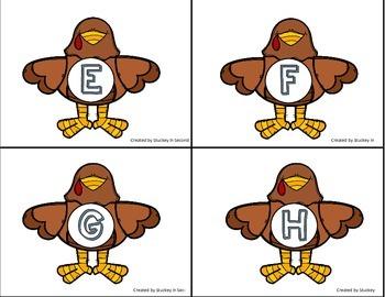 {$1 Deal} Alphabet Match Turkeys {Preschool/K}