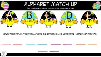 Easter Alphabet Match UP- Lowercase and Uppercase